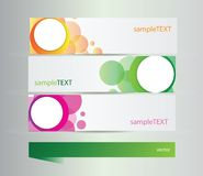 Set of banners with vector  elements Stock Photos