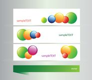 Set of banners with vector  elements Stock Photo