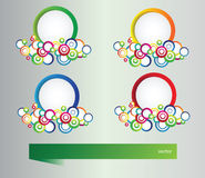 Set of banners with vector  elements Stock Image