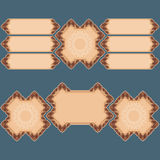 Set of banners with vintage, ornamental, arabesques Stock Image