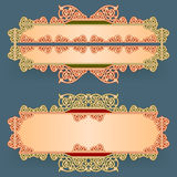 Set of banners with vintage, ornamental, arabesques design Royalty Free Stock Images