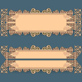 Set of banners with vintage, ornamental, arabesques design Stock Photography