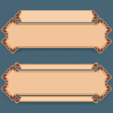 Set of banners with vintage, ornamental, arabesques design Stock Photos