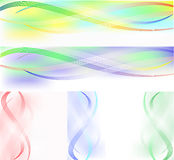 Set of banners from wavy lines Royalty Free Stock Photo