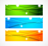 Set of banners with wavy lines Royalty Free Stock Images