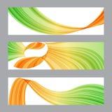 Set banners, wavy shape Royalty Free Stock Image