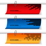 Set of banners - web headers Royalty Free Stock Image