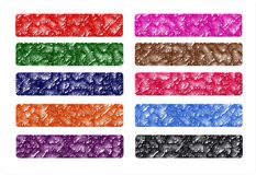 Set Banners web or web header, colorful, original Royalty Free Stock Photo
