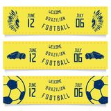 Set of banners welcoming tickets to Brazil Royalty Free Stock Photography