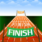 Set of banners with the words start and finish. Stock  illustration. Set of banners with the words start and finish. Stock Stock Image