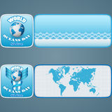 Set of banners for  World Oceans day celebration Royalty Free Stock Images