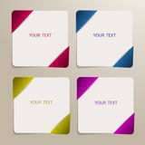 Set of banners for your text Stock Photography