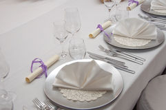 Set banquet table Royalty Free Stock Images