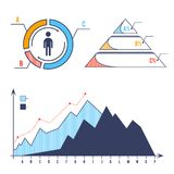 Set bar chart diagram infographic elements concept with stage elements. Creative business infographic elements. Business infographic elements. Business diagram Stock Image