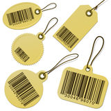 Set of bar code cardboard tags Royalty Free Stock Image