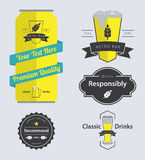 Set of  Bar Retro Labels and Badge Stock Image