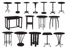 A set of bar tables Stock Images