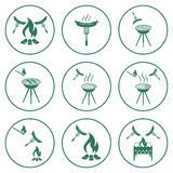 Set of barbecue icons Royalty Free Stock Photos