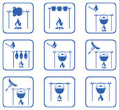 Set of barbecue icons Royalty Free Stock Photo