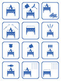Set of barbecue icons Royalty Free Stock Photography