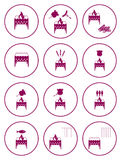 Set of barbecue icons Stock Photography