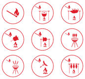 Set of barbecue icons Stock Image