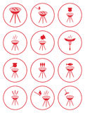 Set of barbecue icons Stock Images