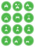 Set of barbecue icons Stock Photo