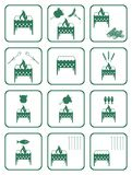 Set of barbecue icons Royalty Free Stock Images