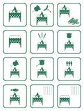 Set of barbecue icons Royalty Free Stock Image