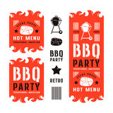 Set of barbecue labels and flyers Royalty Free Stock Photography