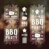 Set of barbecue labels and flyers Royalty Free Stock Images