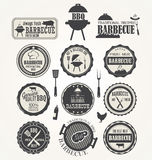 Set of barbecue labels Stock Photography