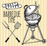 Set of barbecue line art icons. Stock Photos