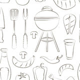 Set of barbecue pattern Stock Photos