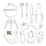 Set of barbecue Royalty Free Stock Photos