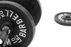 Set of Barbells Royalty Free Stock Image