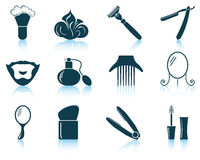 Set of barber icons Stock Images