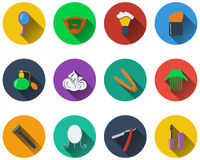 Set of barber icons Stock Photo