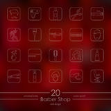 Set of barber shop icons Stock Image