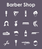 Set of barber shop simple icons Stock Photo