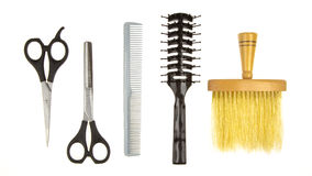 Set of barber tools Royalty Free Stock Image