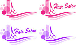 Set of barbershop sign. Set of colorful cute barbershop sign Stock Photos