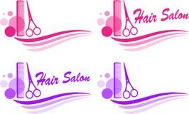 Set of barbershop sign Stock Photos
