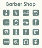 Set of barbershop simple icons Stock Photos