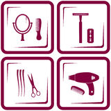 Set barbershop tools Royalty Free Stock Image
