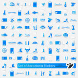 Set of Barcelona stickers Stock Image