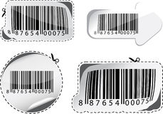 Set of barcodes. Royalty Free Stock Images
