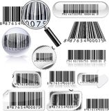 Set of barcodes. Royalty Free Stock Photos