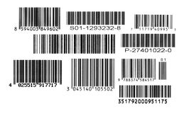 Set Barcodes Stockfotografie